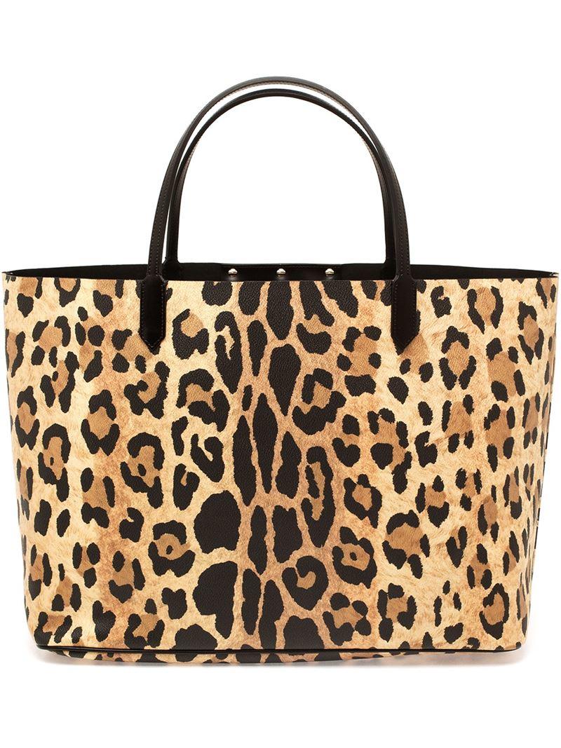 Lyst - Givenchy Leopard Print Antigona Shopping Bag in Brown 7829b93f3d9e6