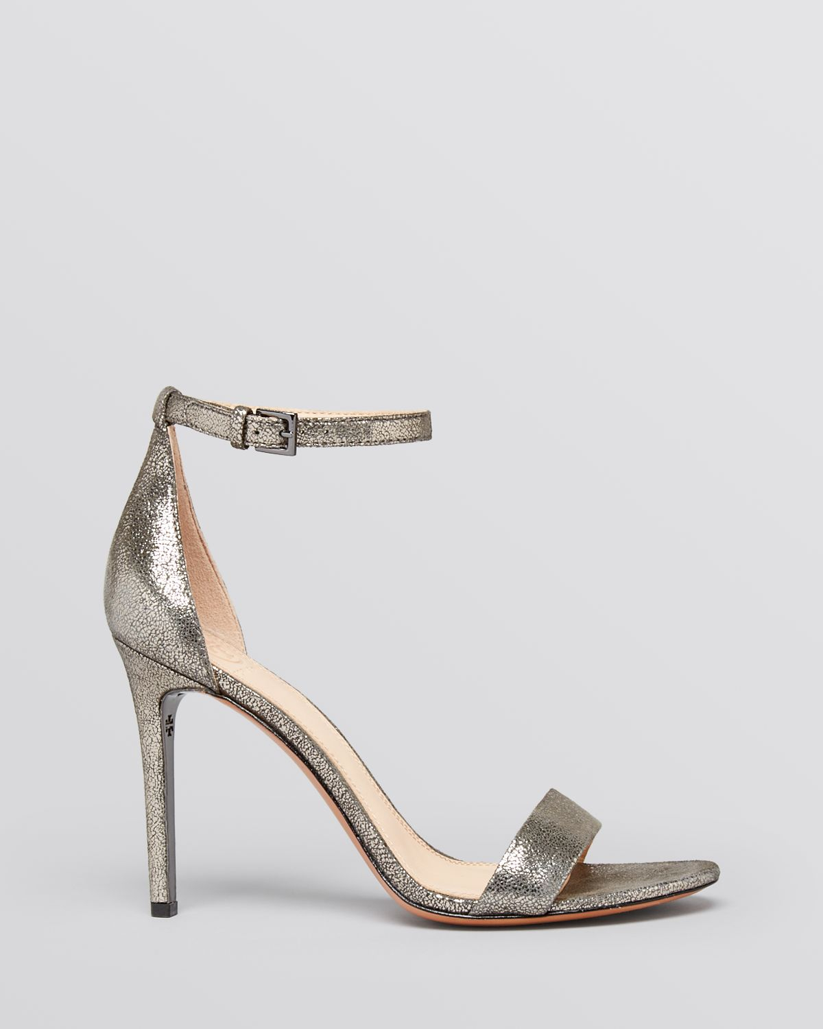 8a93e0dfe Lyst - Tory Burch Open Toe Ankle Strap Evening Sandals - Keri High ...