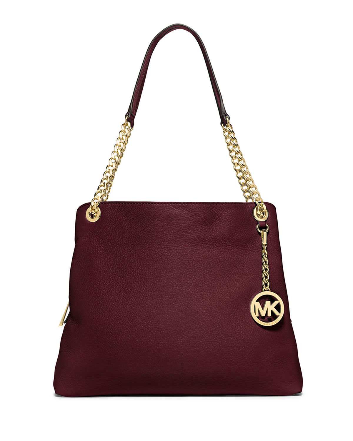 Michael michael kors Jet Set Chain Large Shoulder Bag in Purple | Lyst