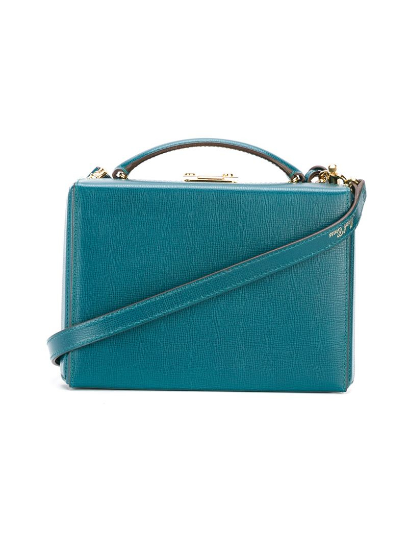 Mark cross 'grace' Box Bag in Blue