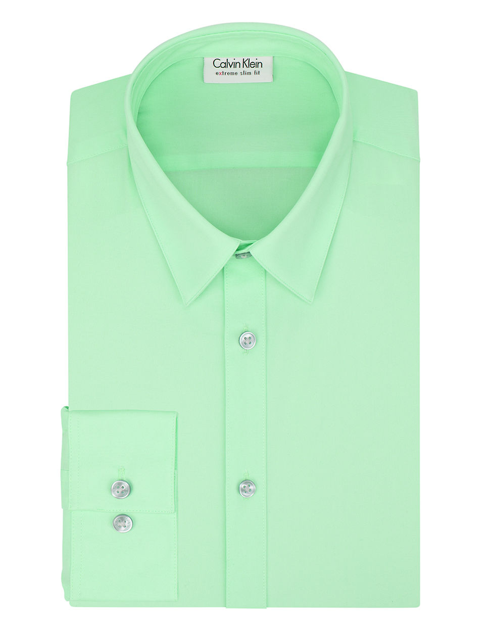 Lyst calvin klein slim fit dress shirt in green for men for Athletic fit dress shirts
