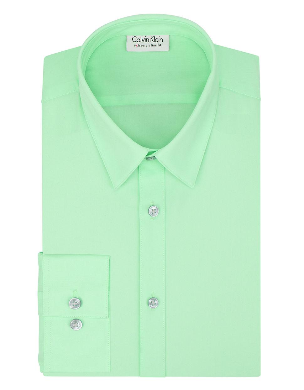 Calvin Klein Slim Fit Dress Shirt In Green For Men Mint