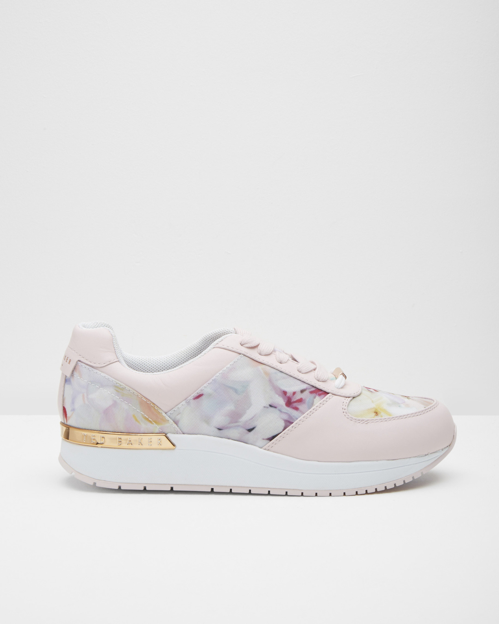 62ed0935d87fb Ted Baker Floral Print Trainers in Pink - Lyst