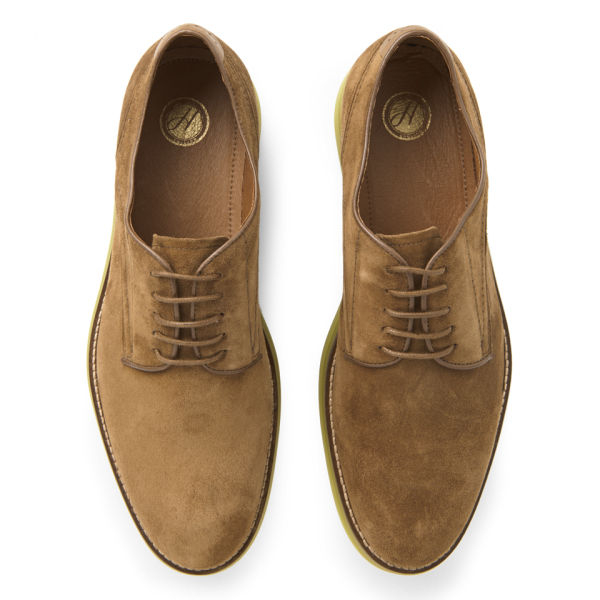 H by hudson Mens Boson Suede Shoes in Brown for Men | Lyst