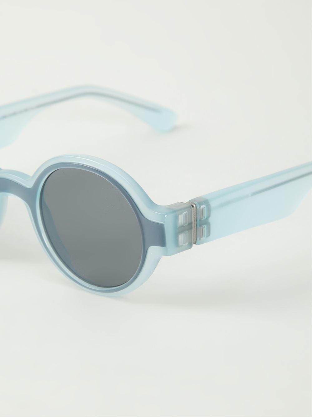 Mykita maison martin margiela x sunglasses in blue lyst for Martin margiela glasses