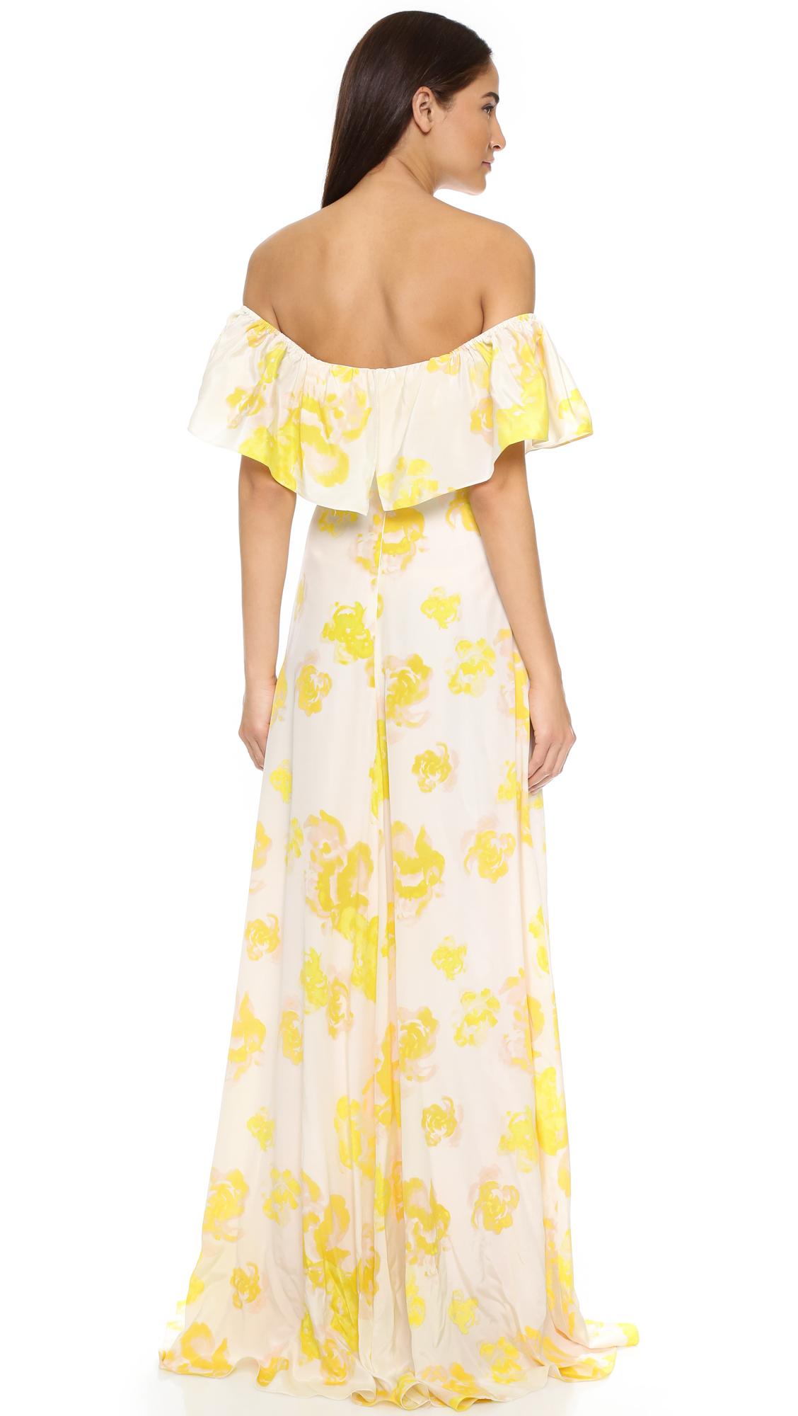 633fd47126 Lyst - Amanda Uprichard Delilah Dress in Yellow