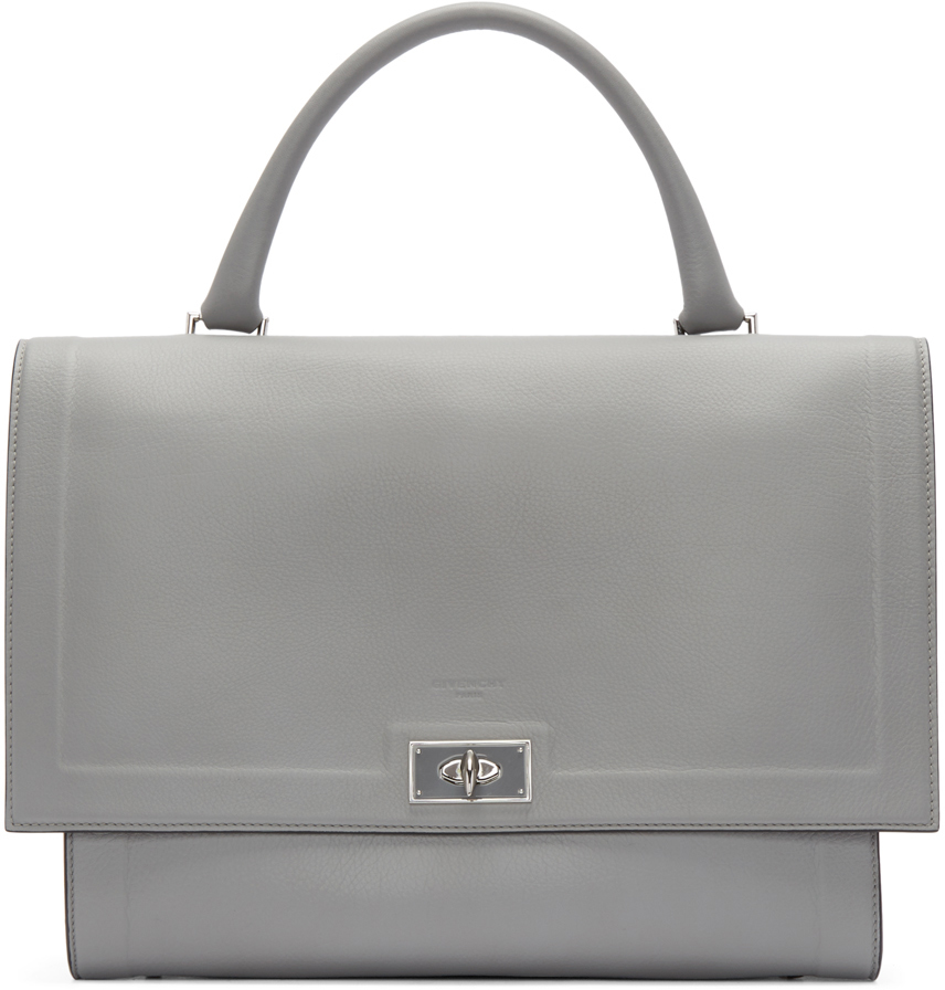 f06fc55a8c Lyst - Givenchy Grey Medium Shark Bag in Gray