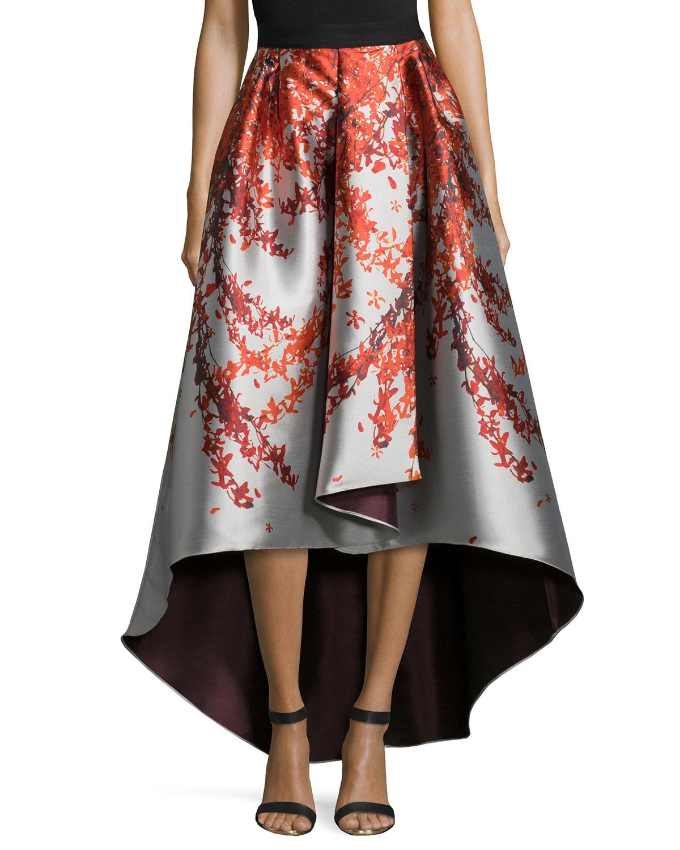 Lyst Sachin Babi Kishi High Low Printed Ball Skirt In Metallic