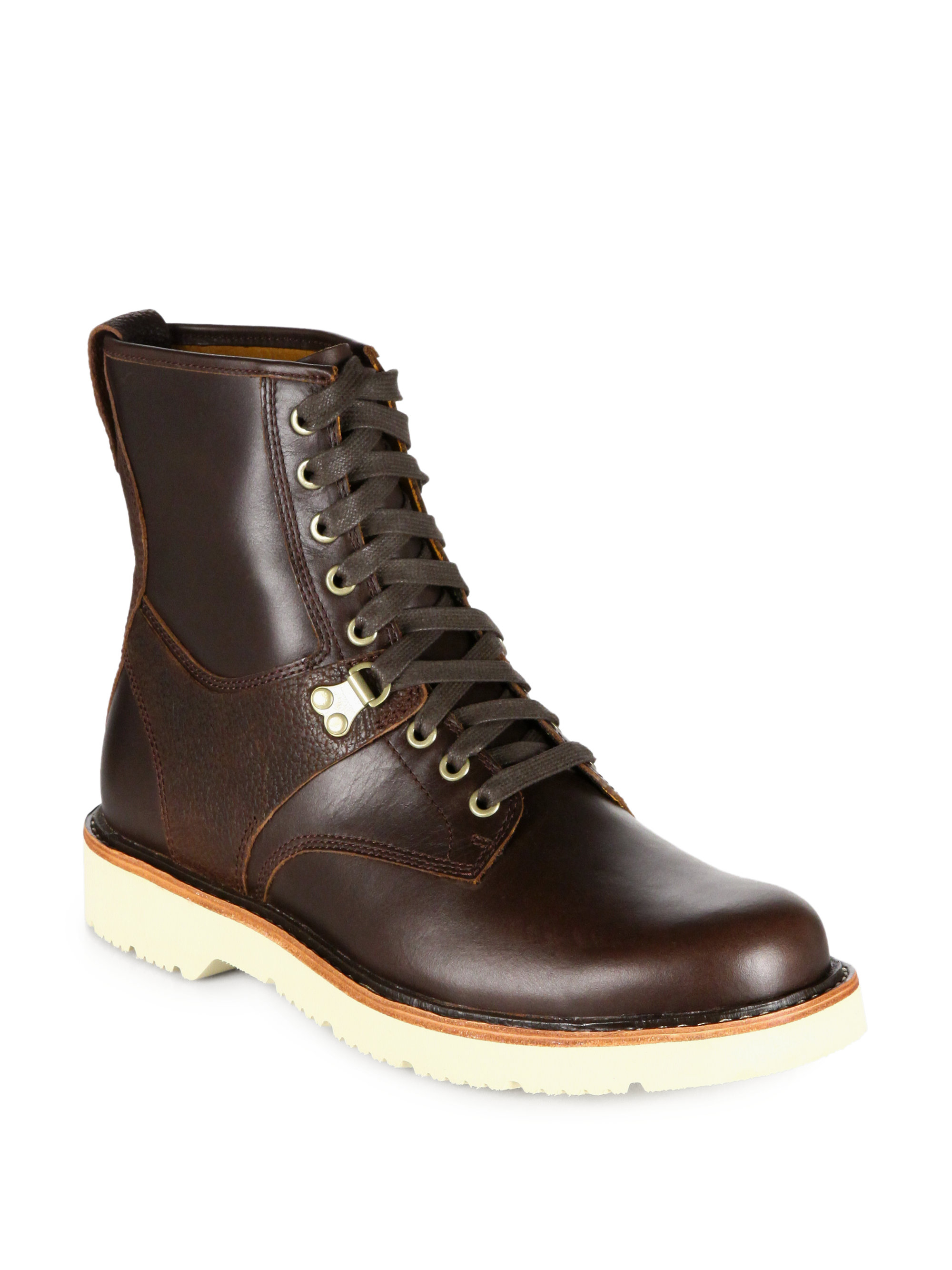 Rubber Rings For Men >> Timberland Abington Quarryville Embossed Leather Boots in Brown for Men   Lyst