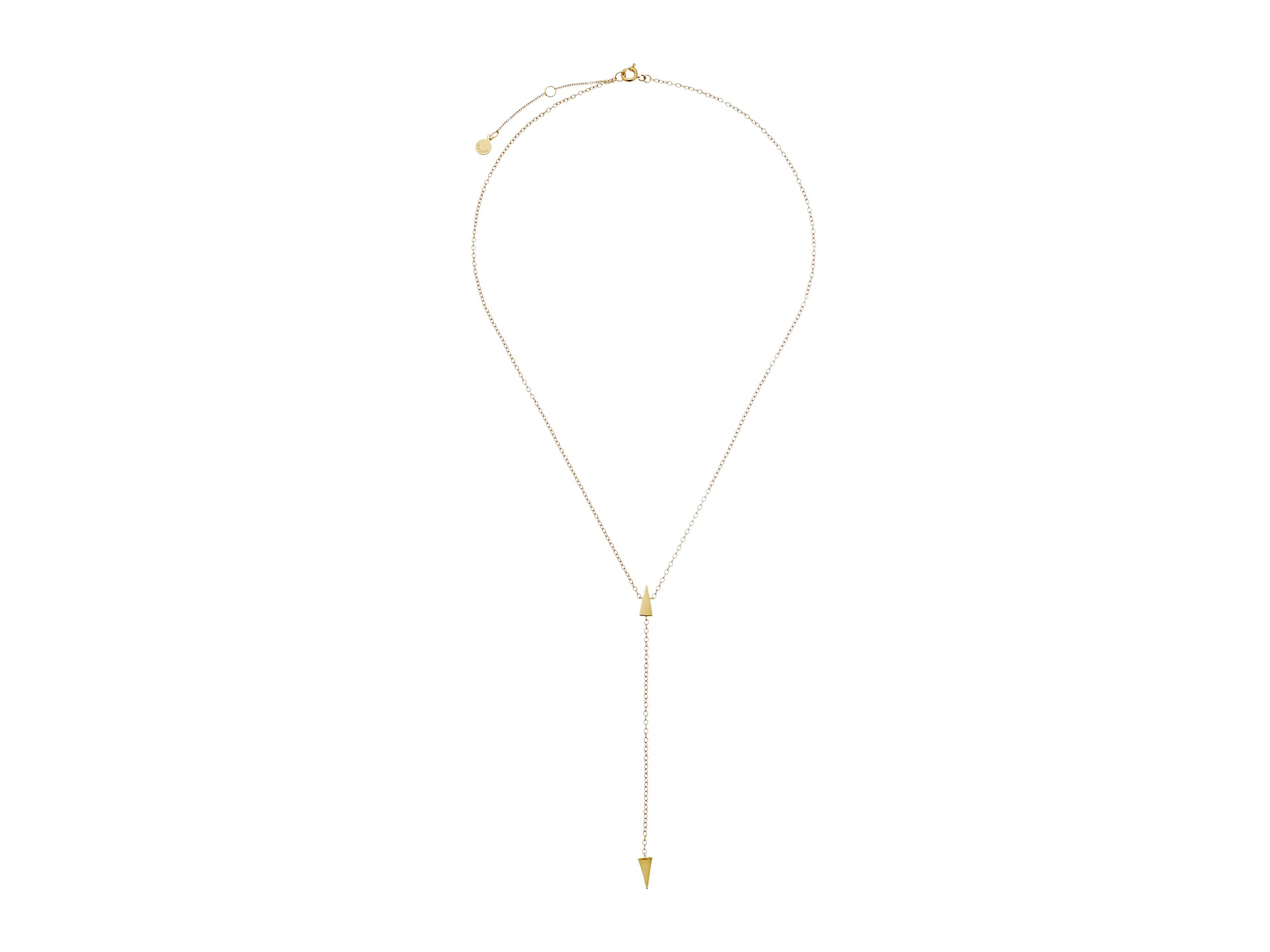 Gorjana Takara Lariat Necklace in Metallic Gold XXRjXz3C0