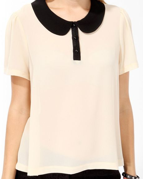 Cream Peter Pan Collar Blouse 30