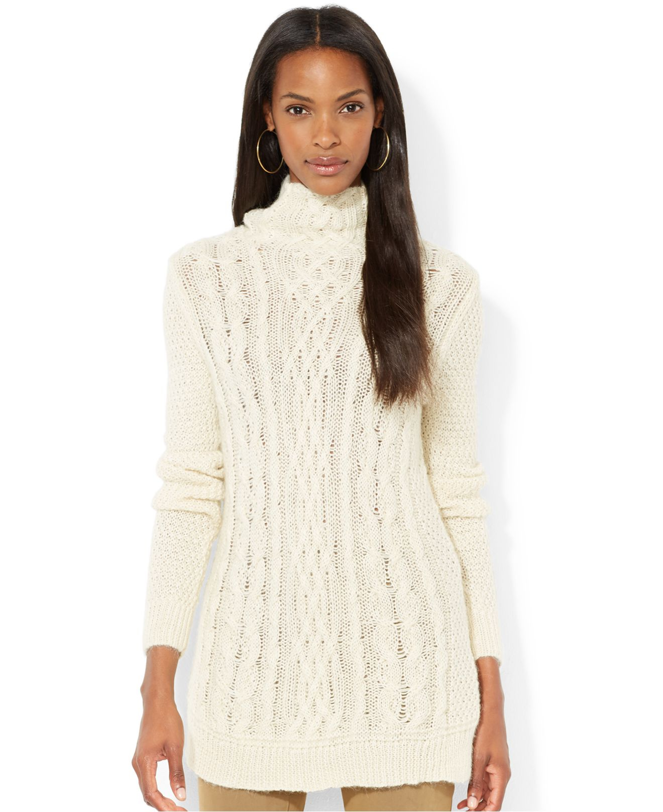 Tunic Sweater Cableknit Cream