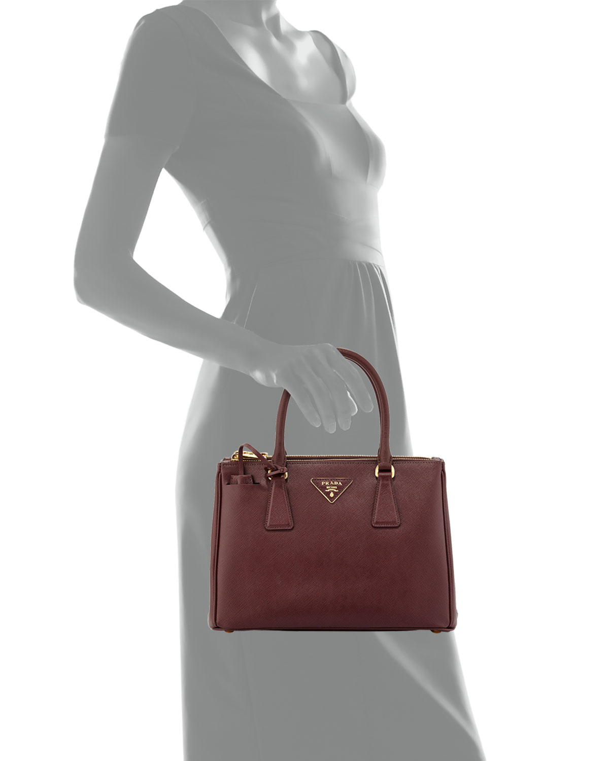 6d4a46bd94ce ... order lyst prada saffiano small executive tote bag in purple 5b5f5 9218e
