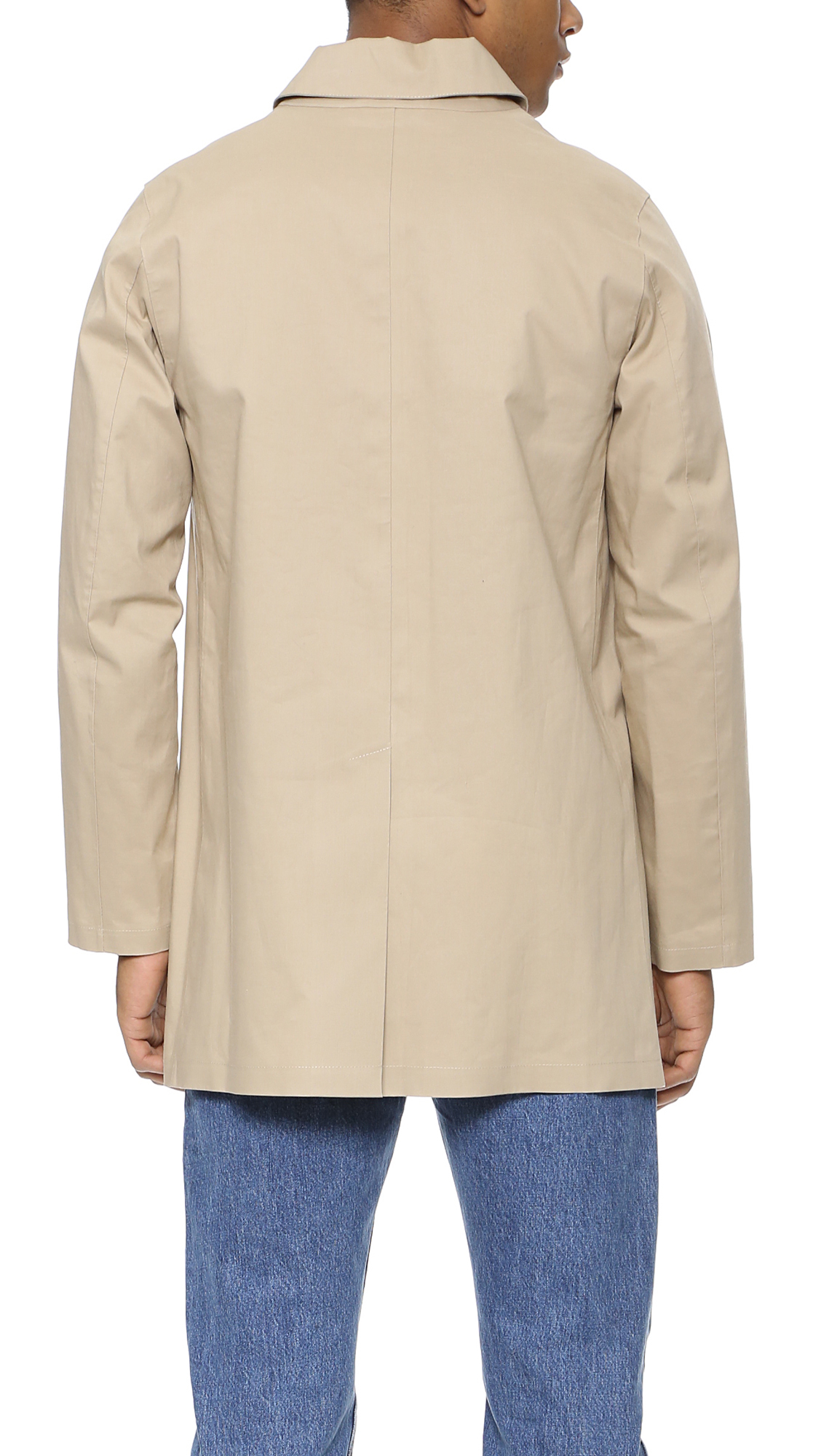 Lyst - Mackintosh Dunoon Bonded Raincoat in Natural for Men