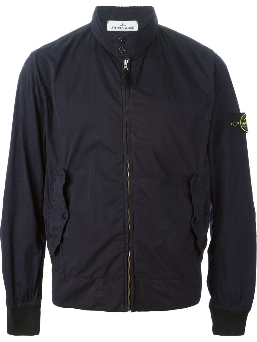 Lyst - Stone Island Bomber Jacket in Blue for Men