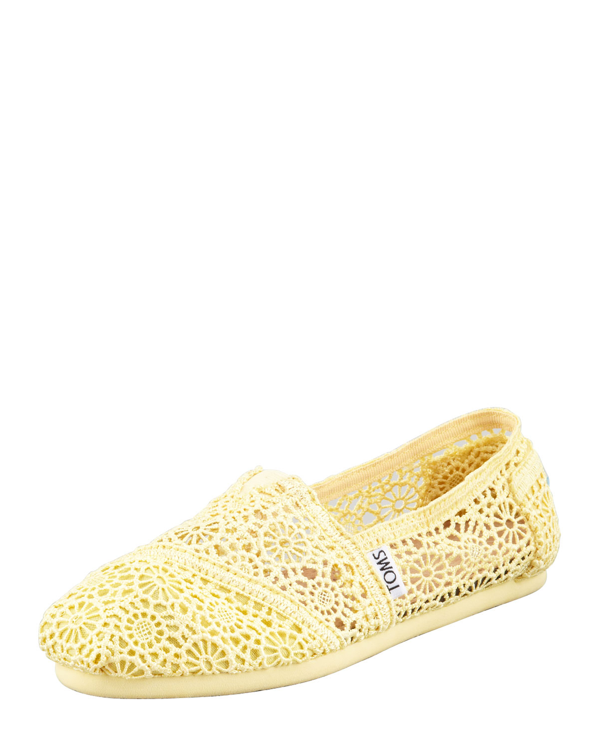 3f6d627ab4b Lyst - TOMS Crochet Slip-On in Yellow