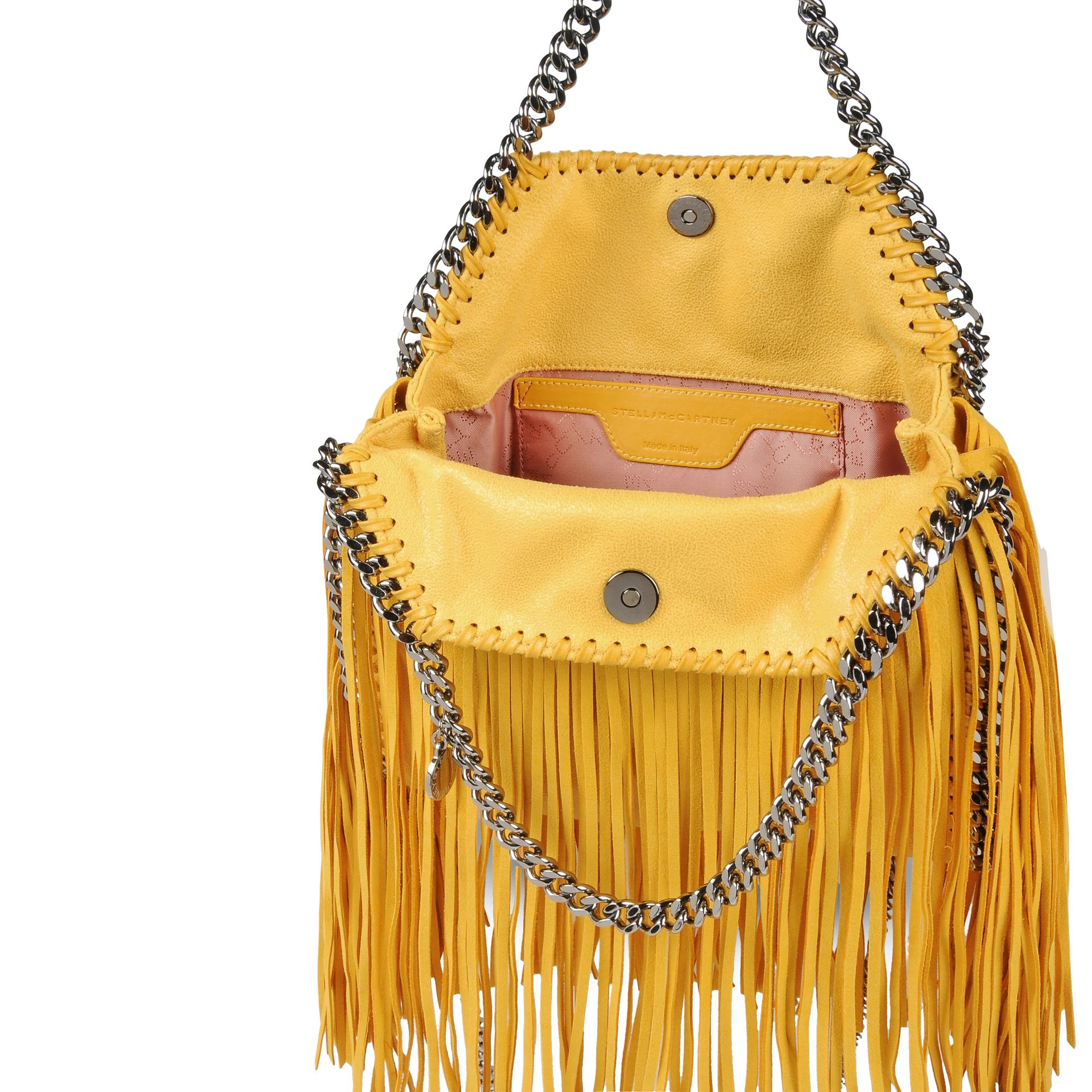 8909a75cd6b5 Lyst - Stella McCartney Falabella Shaggy Deer Fringed Mini Tote in ...