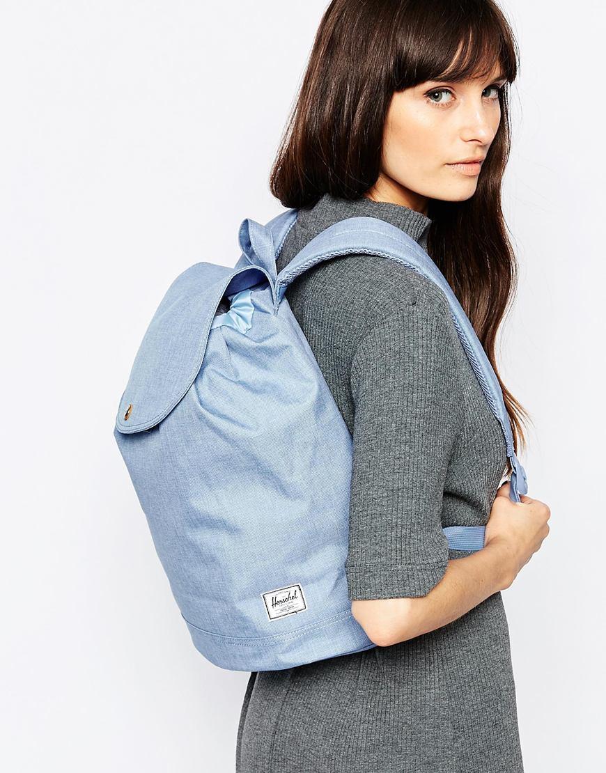 Lyst - Herschel Supply Co. Reid Backpack In Chambray in Blue 4f8ff9241c2d0