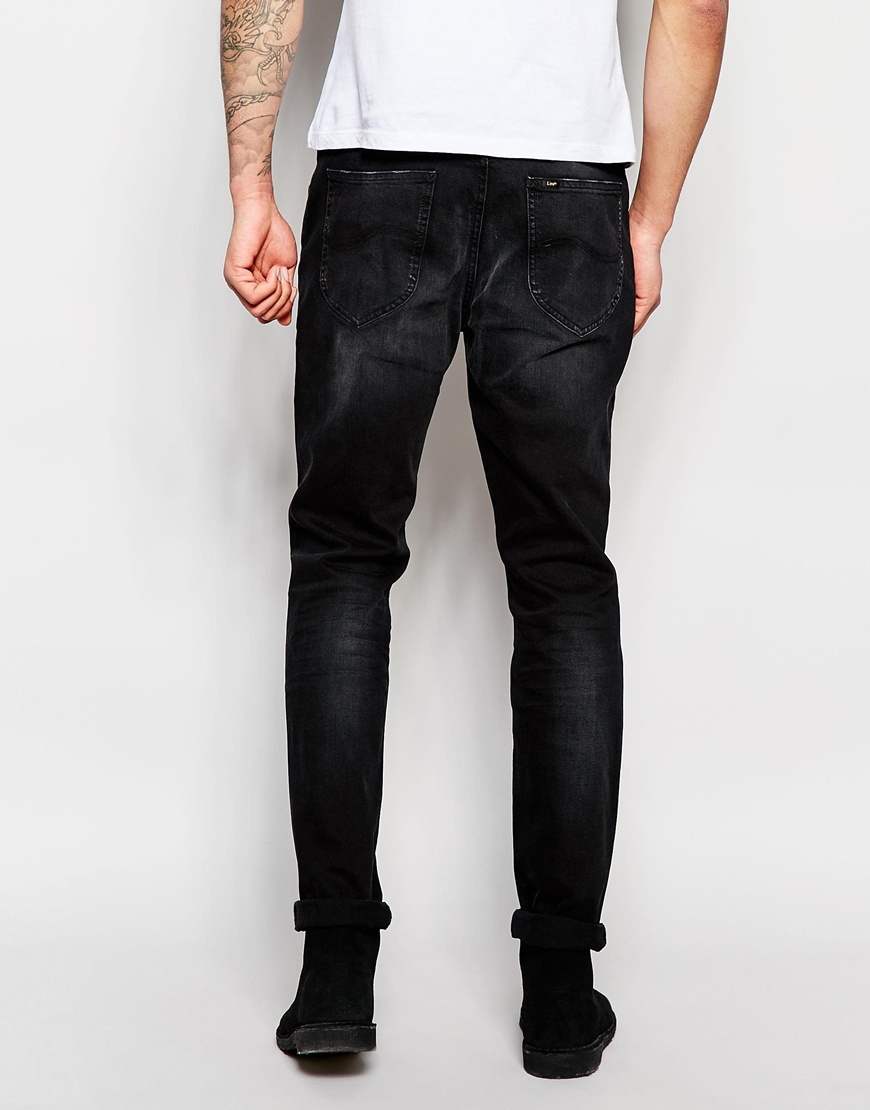 df7d8339 Lee Jeans Jeans Arvin Stretch Slim Tapered Fit Distorted Black Worn ...