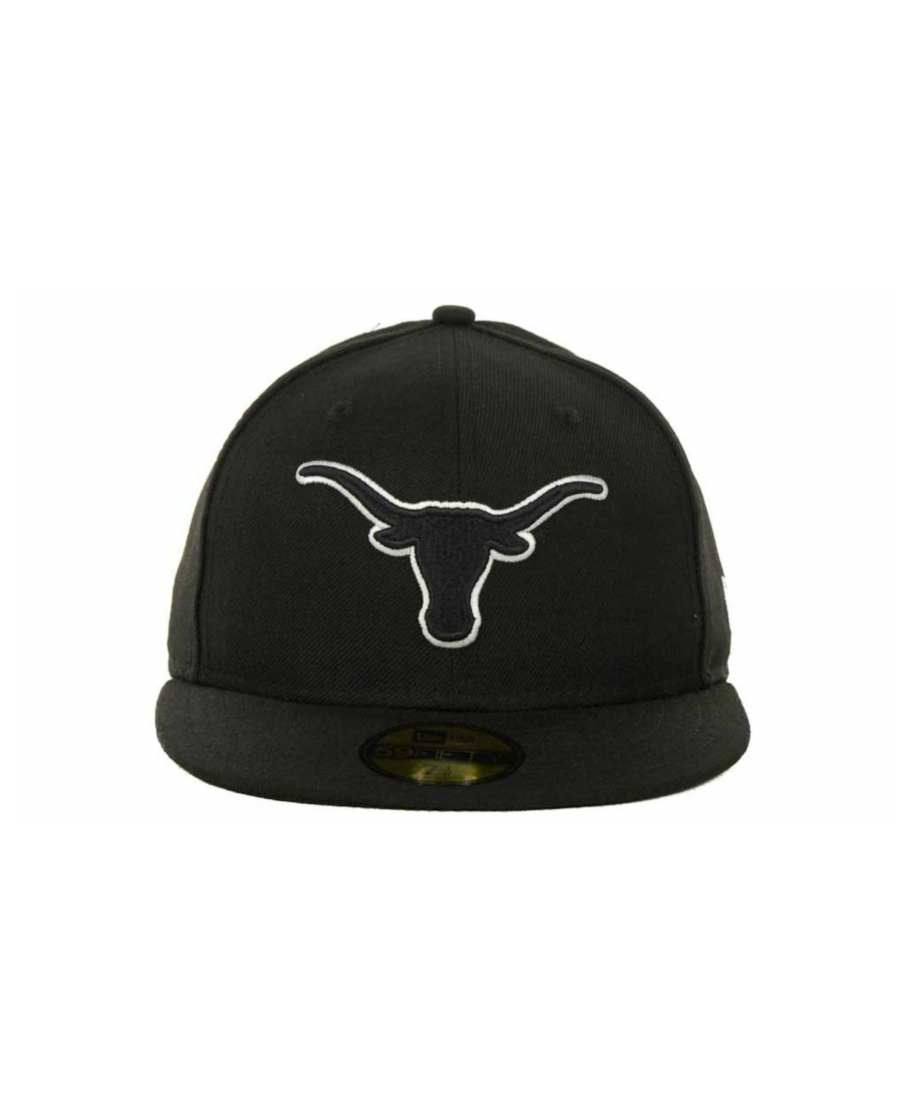 size 40 7902d f258b ... store lyst ktz texas longhorns black on black with white 59fifty cap in  6c171 23338