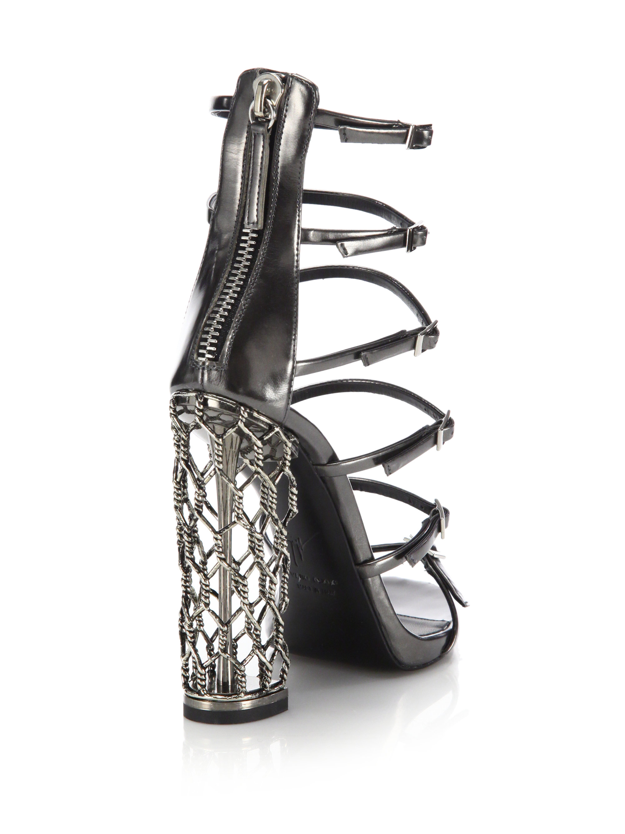 Giuseppe Zanotti Cage Leather Sandals discounts clearance wide range of discount choice clearance affordable wiki sale online yiGUF