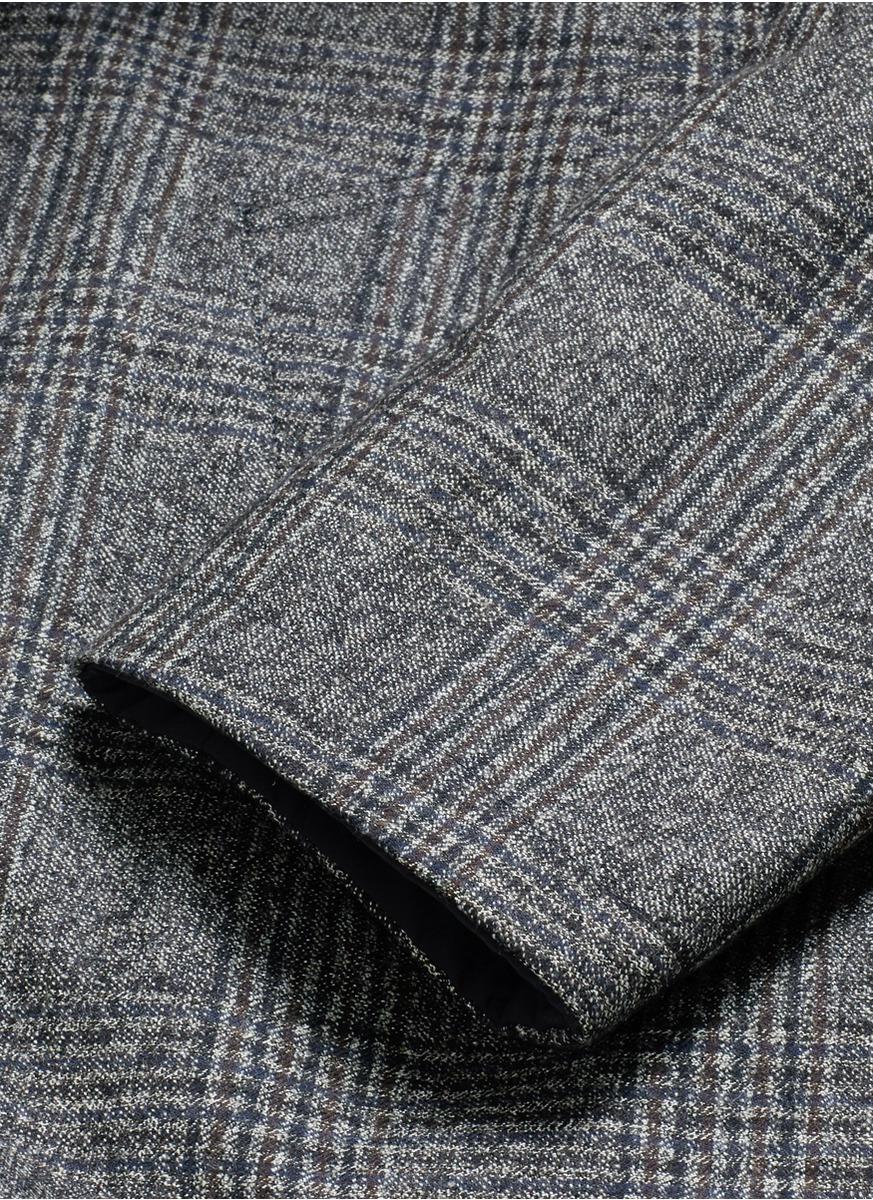 Lyst Lardini Reversible Glen Plaid Wool Cotton