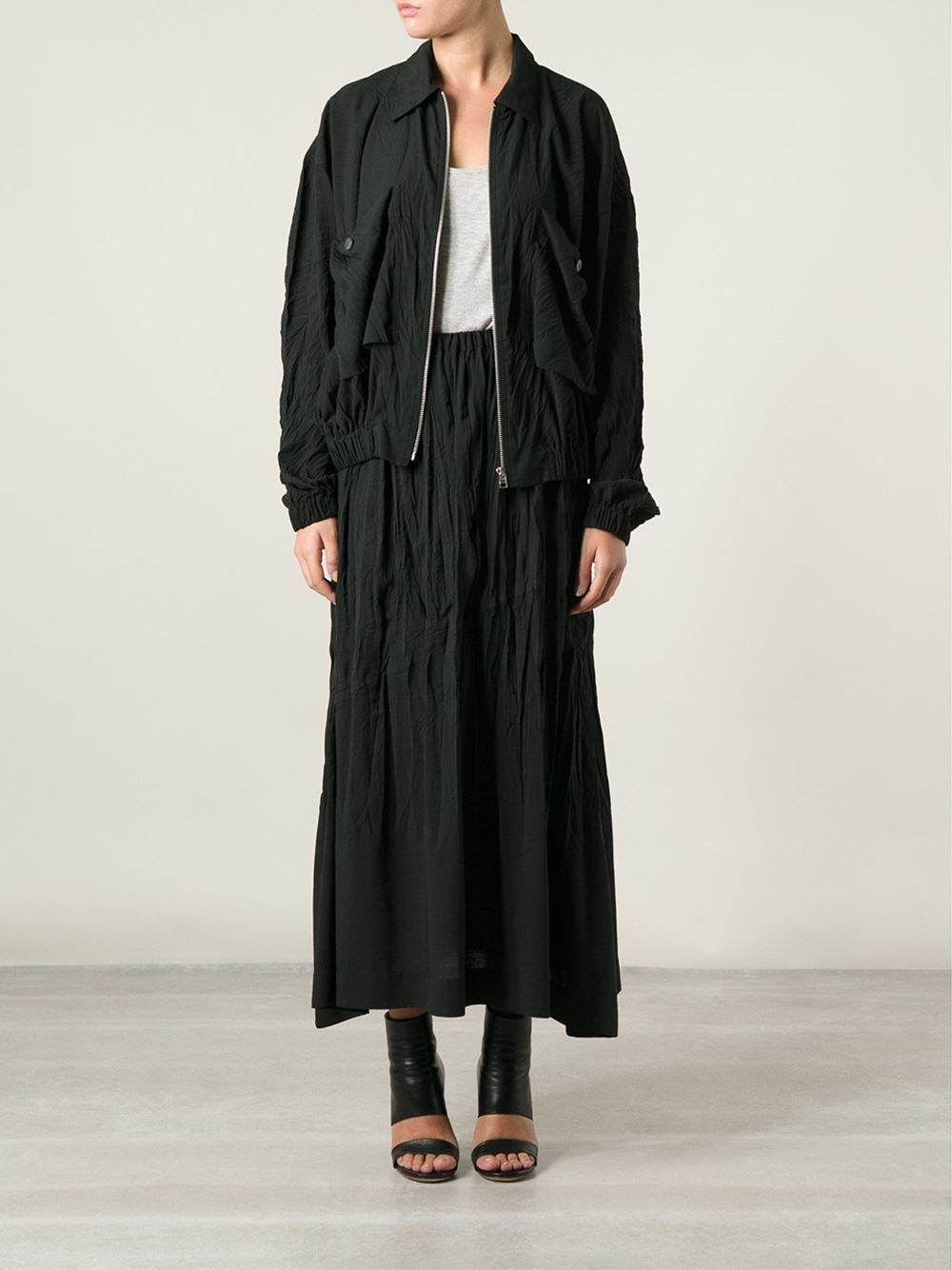 Issey miyake Skirt And Jacket Set in Black | Lyst