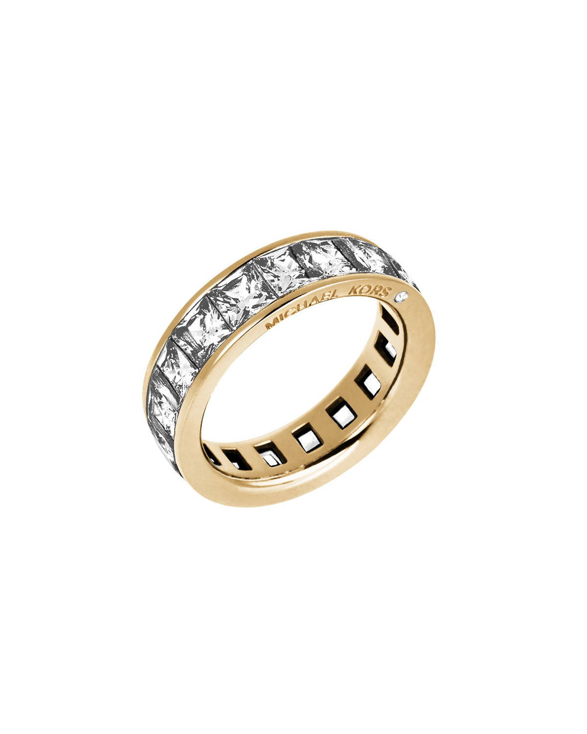 874d3f601320 Lyst - Michael Kors Park Avenue Square Cz Band Ring in Metal ...