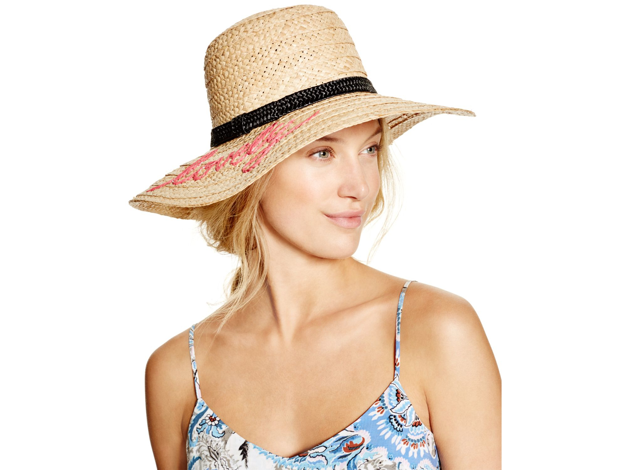 fa8b32e659583 Lyst - Kate Spade Embroidered Lovely Sunhat in Natural