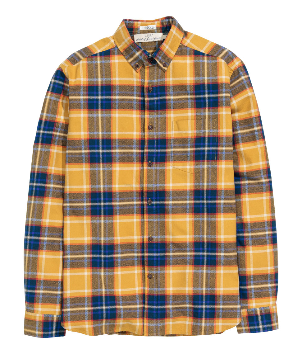 Hu0026m Checked Cotton Shirt in Blue for Men | Lyst