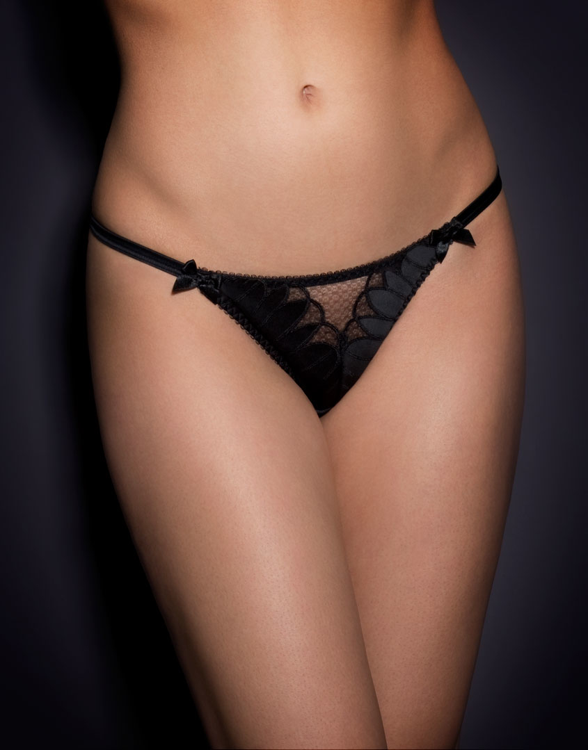 Lyst - Agent Provocateur Ellin Thong Black in Black de45a24b4