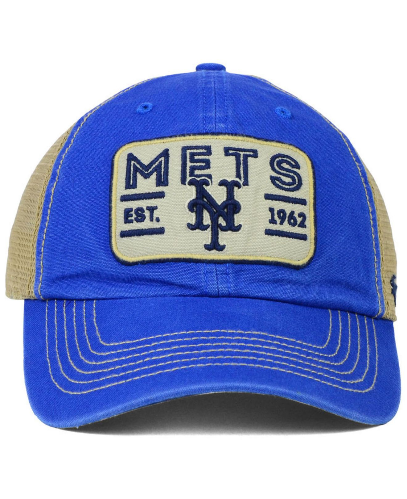 classic fit 5e929 904de ... promo code for lyst 47 brand new york mets goin yard mesh cap in blue  for
