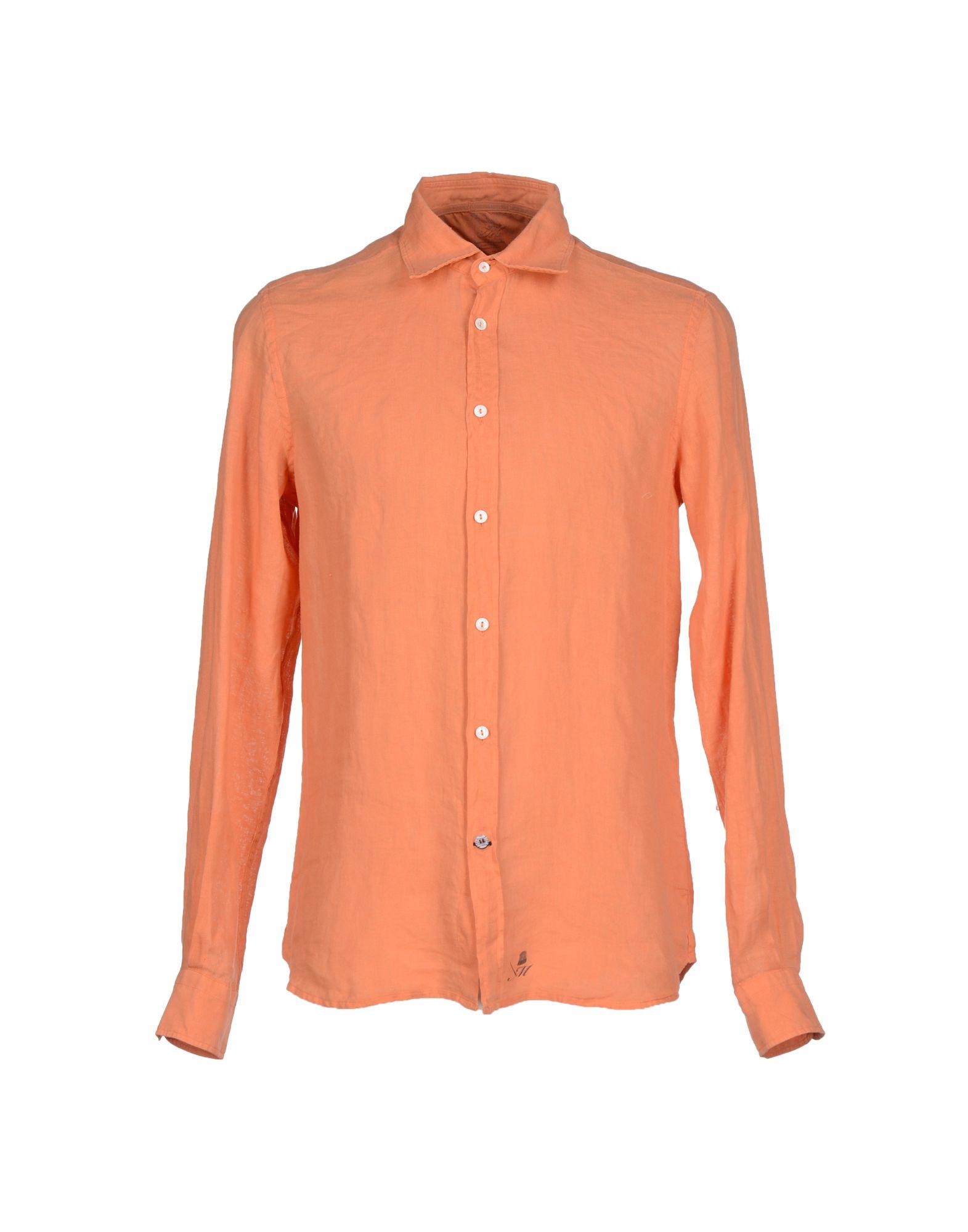 mason 39 s shirt in orange for men lyst