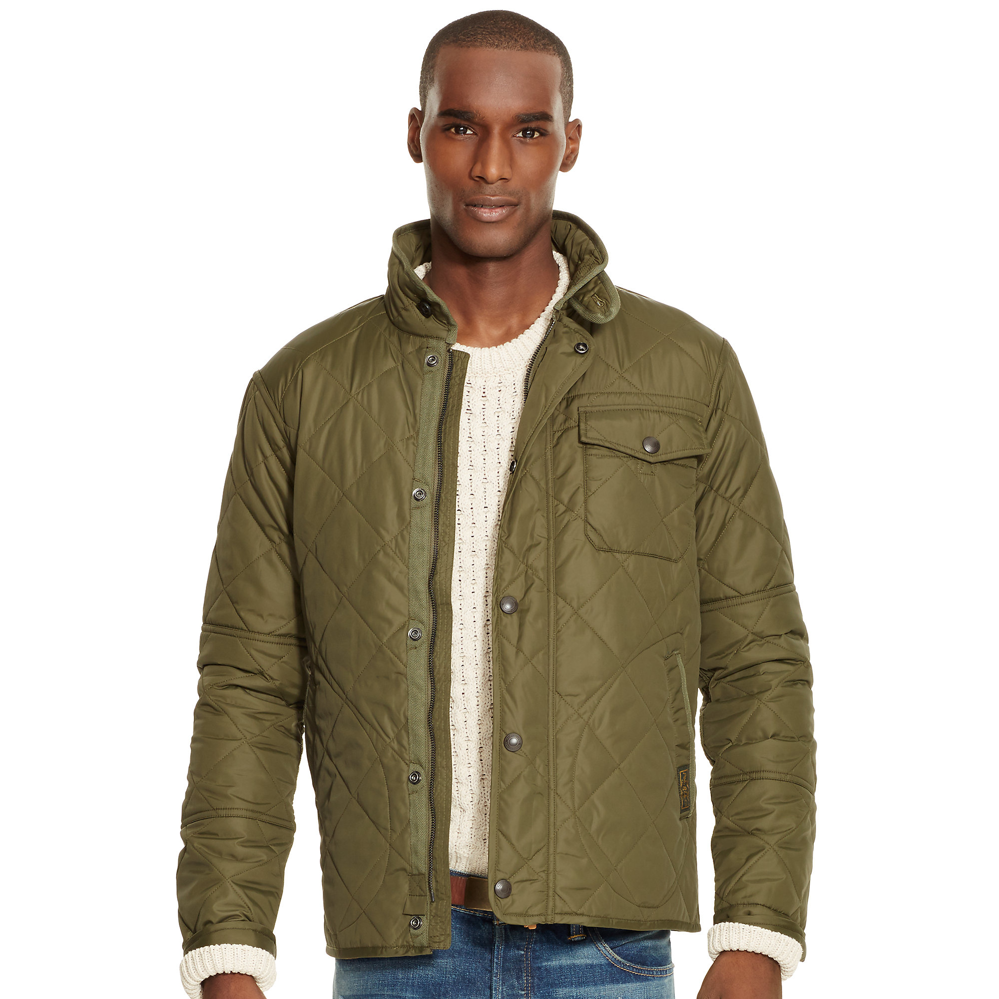 Polo ralph lauren Quilted Jacket in Green for Men | Lyst