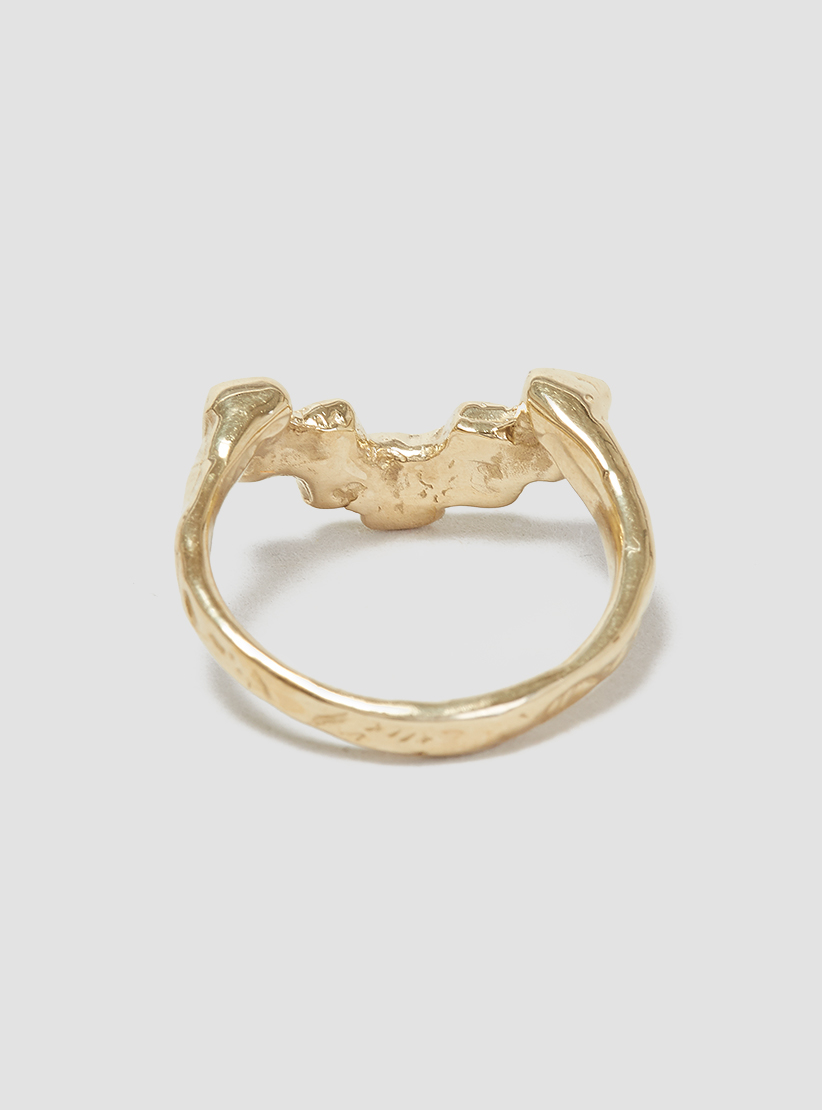 odette new york stepped ring brass in metallic lyst