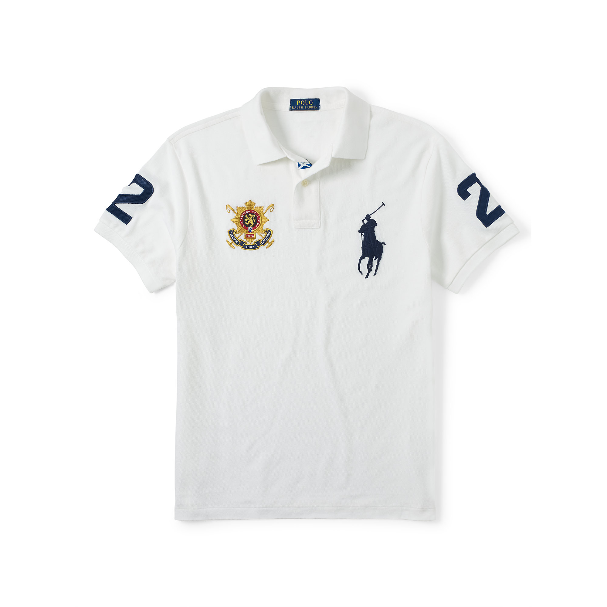 ad51cb958495 Lyst - Polo Ralph Lauren Blackwatch Slim-fit Polo Shirt in White for Men