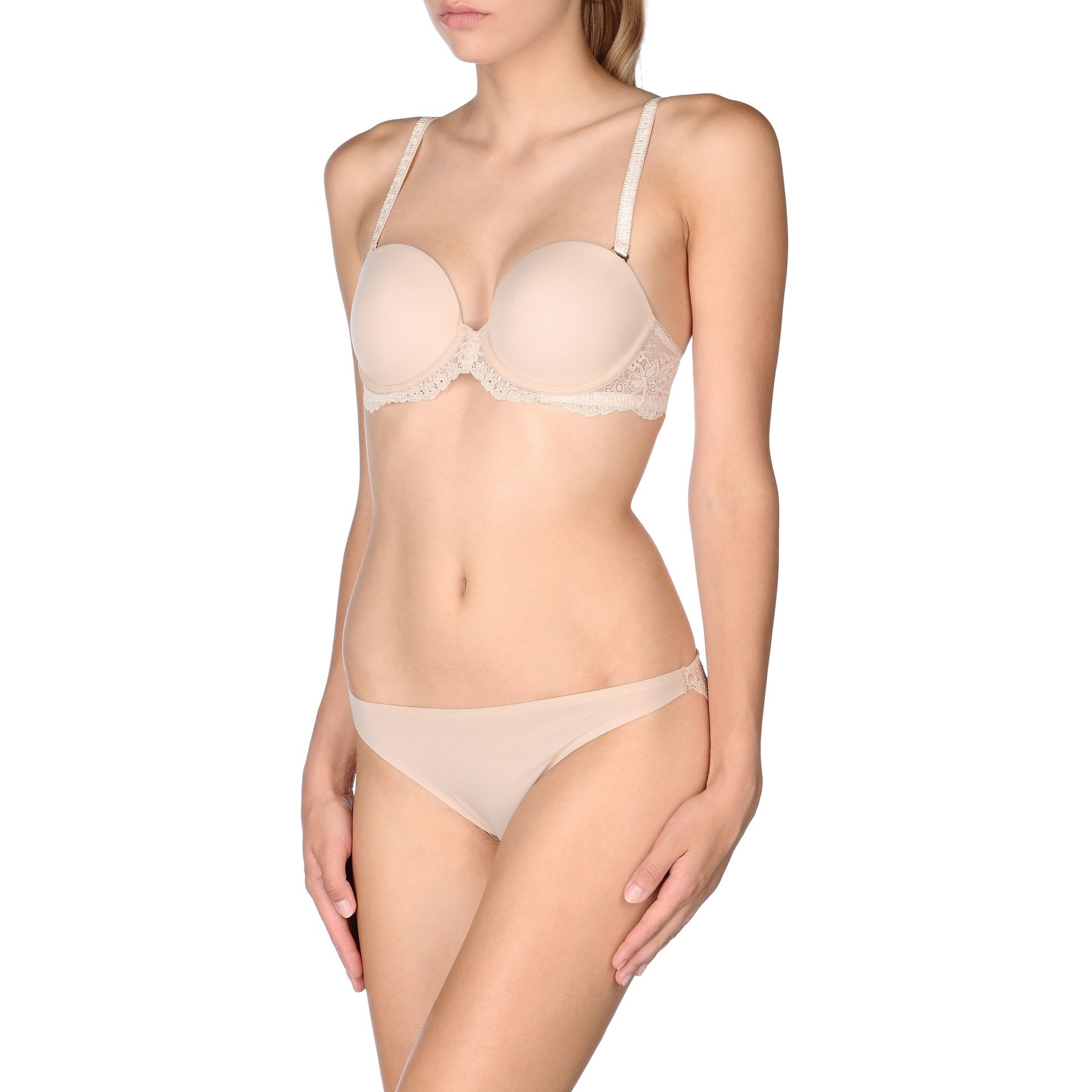 3a6b69b301 Lyst - Stella McCartney Stella Smooth And Lace Contour Plunge Bra in ...