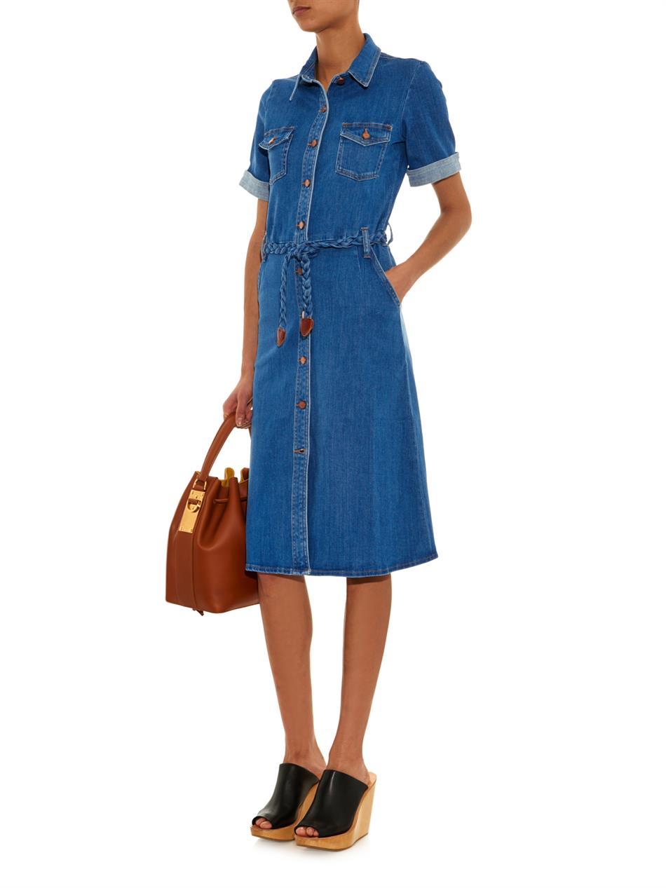 2ec6424e8bd Lyst - M.i.h Jeans The Seventies Denim Dress in Blue