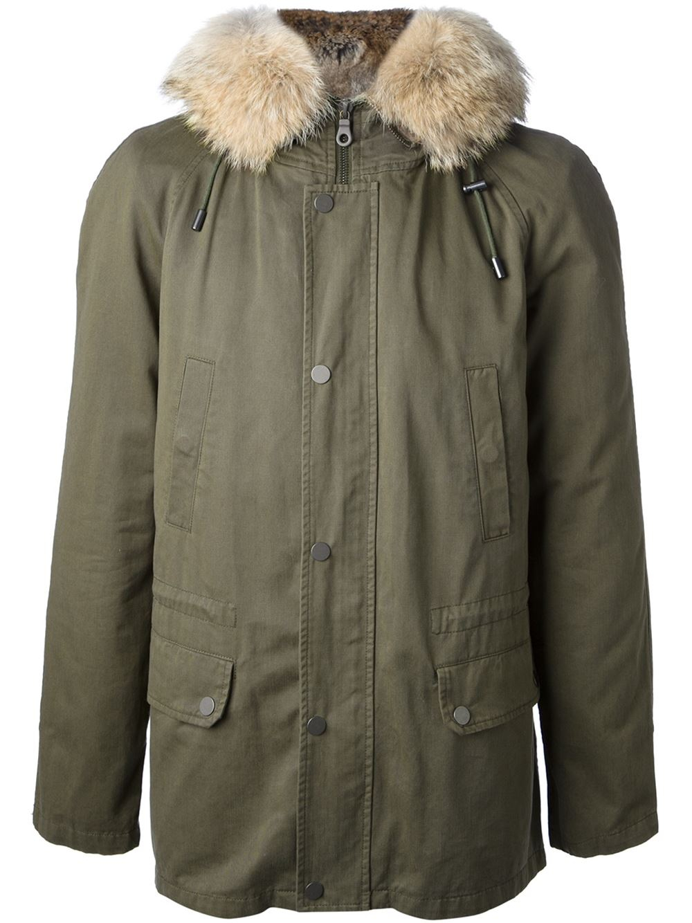 ff178c1dc09d Lyst - Yves Salomon Fur Lined Hooded Parka in Green for Men