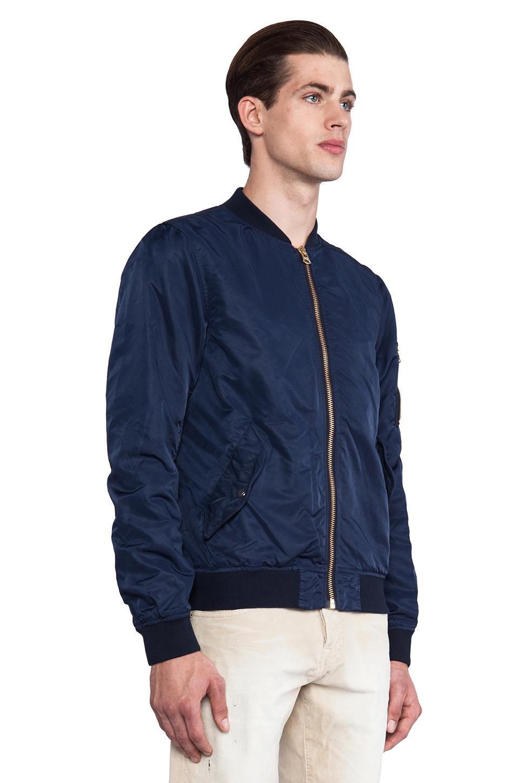 Scotch & soda Alpha Nylon Bomber Jacket in Blue for Men | Lyst