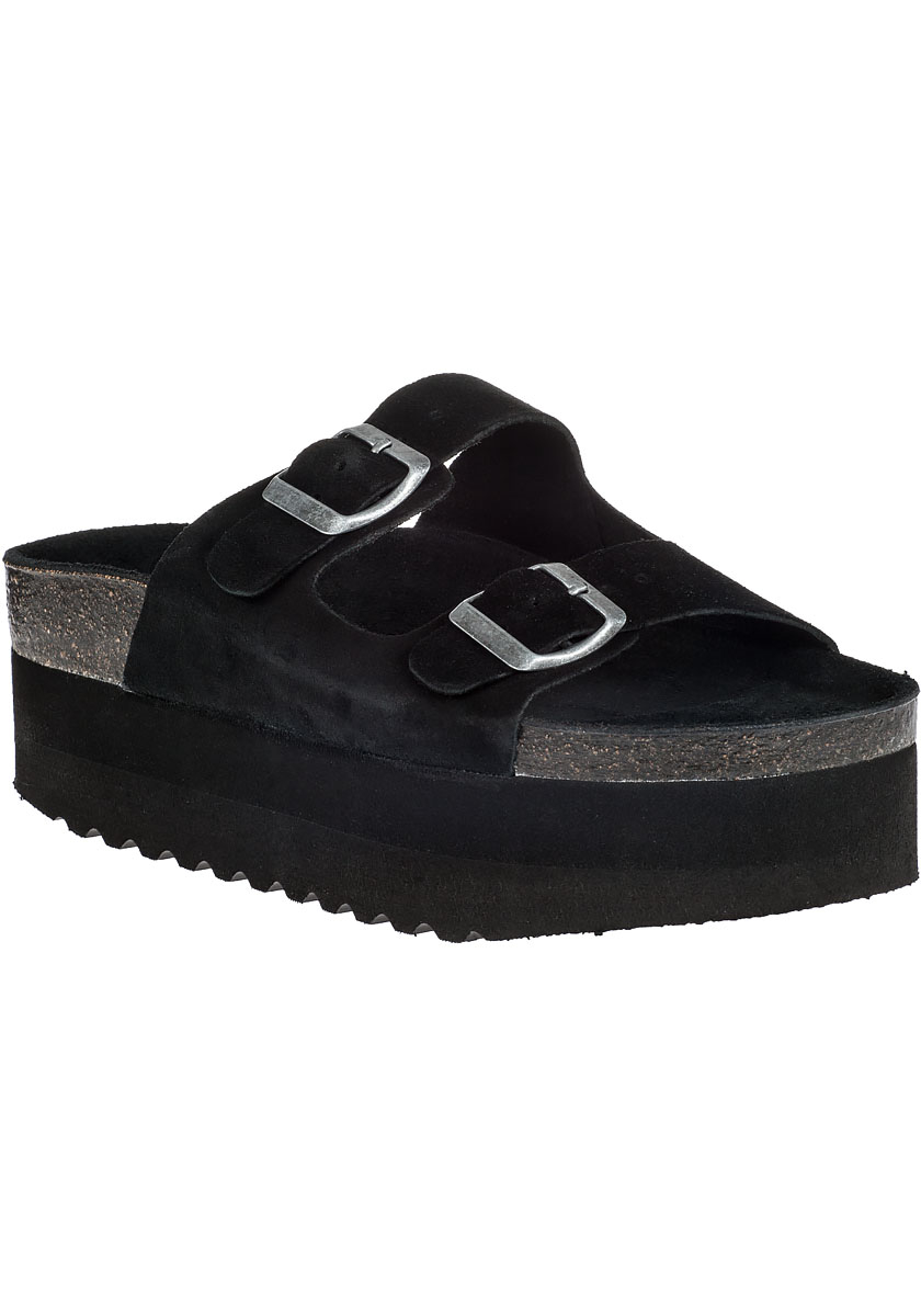 Jeffrey Campbell Aurelia Platform Sandal Black Suede In