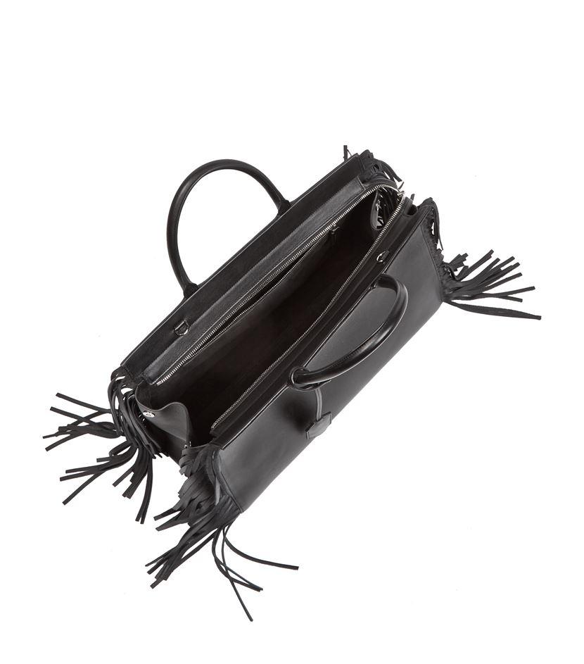 pink price tags - Saint laurent Medium Cabas Rive Gauche Fringe Bag in Black   Lyst