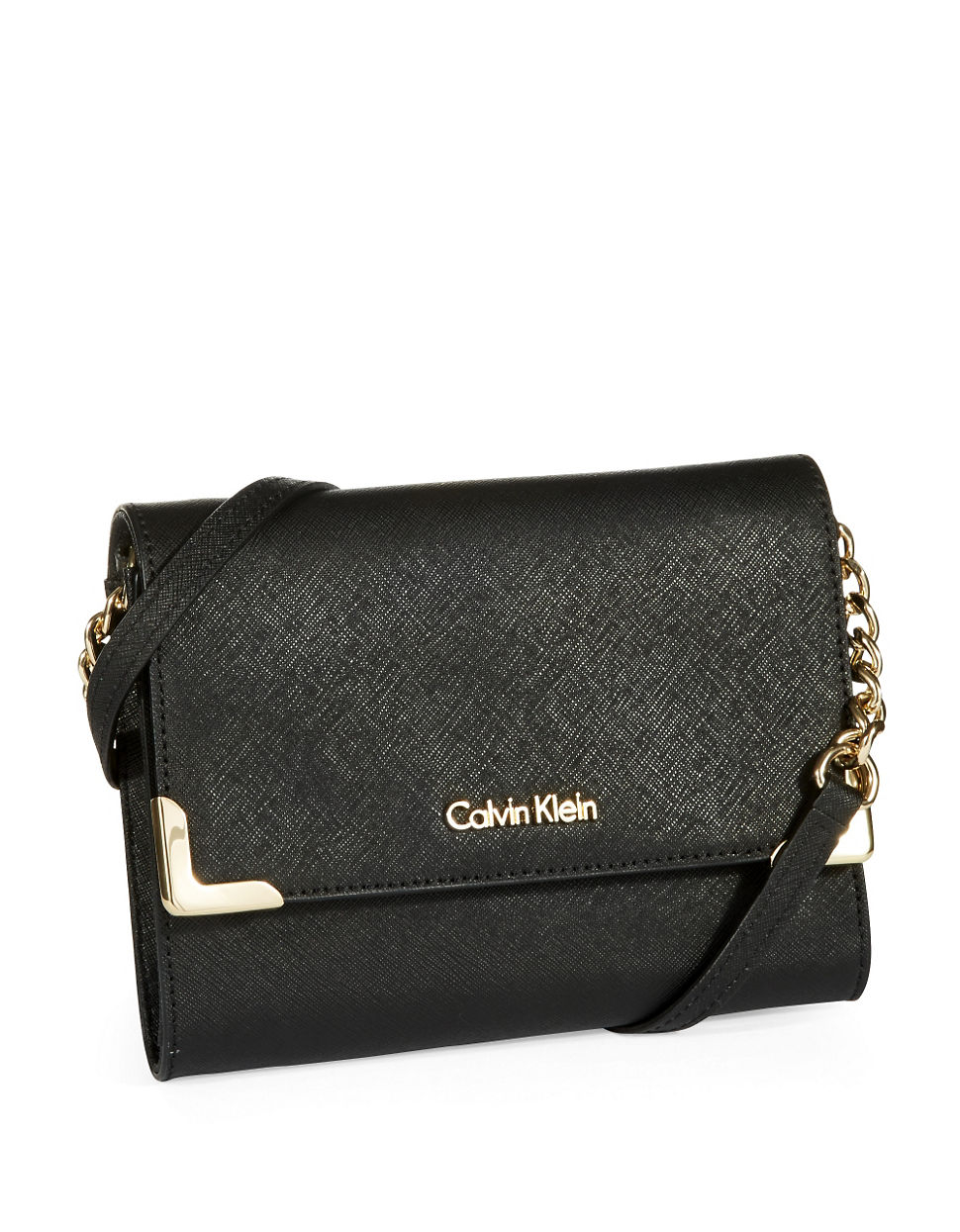 da531316120 Lyst - Calvin Klein Petite Crossbody Bag in Black