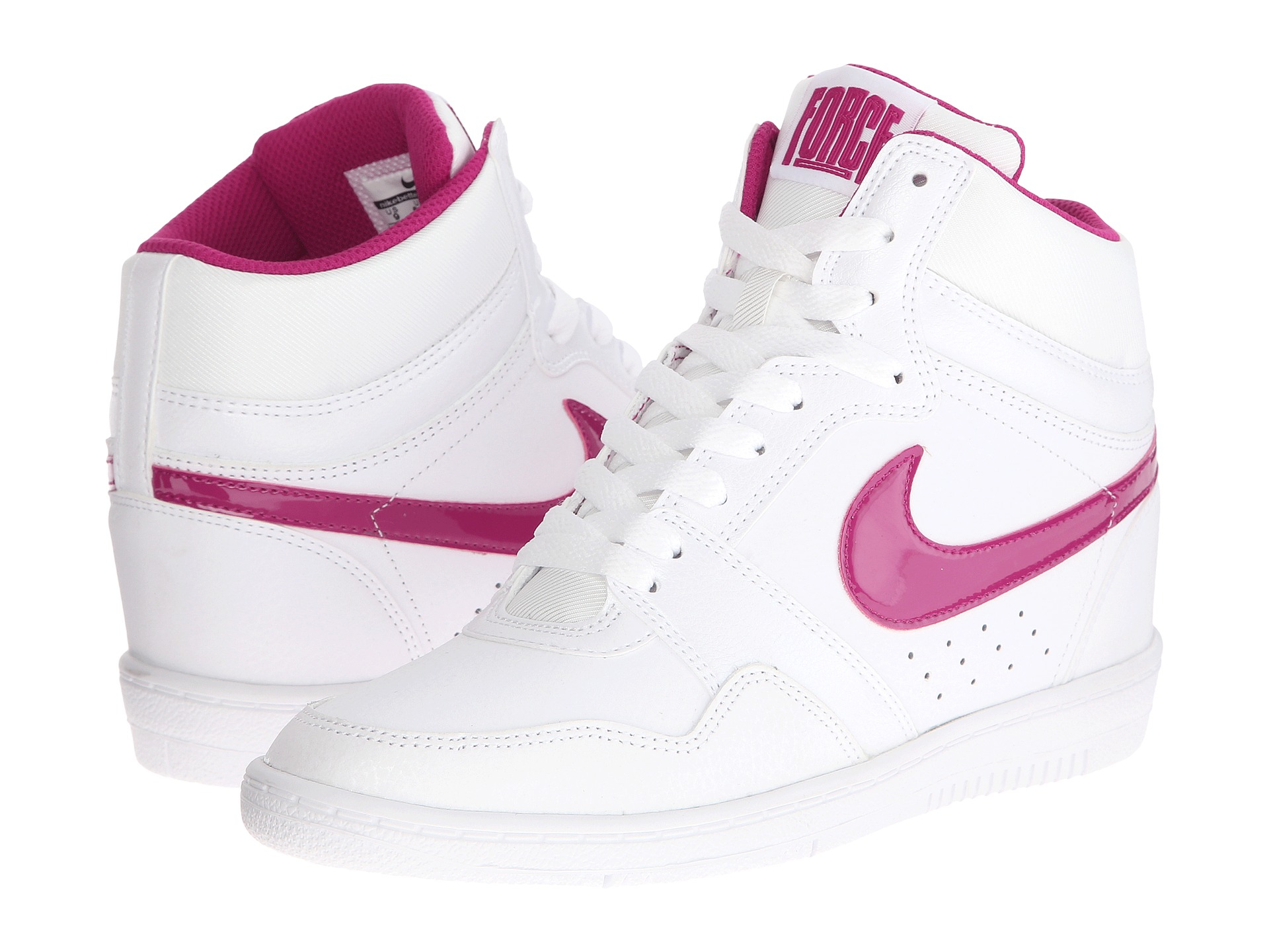 nike force sky high sneaker wedge in white lyst. Black Bedroom Furniture Sets. Home Design Ideas