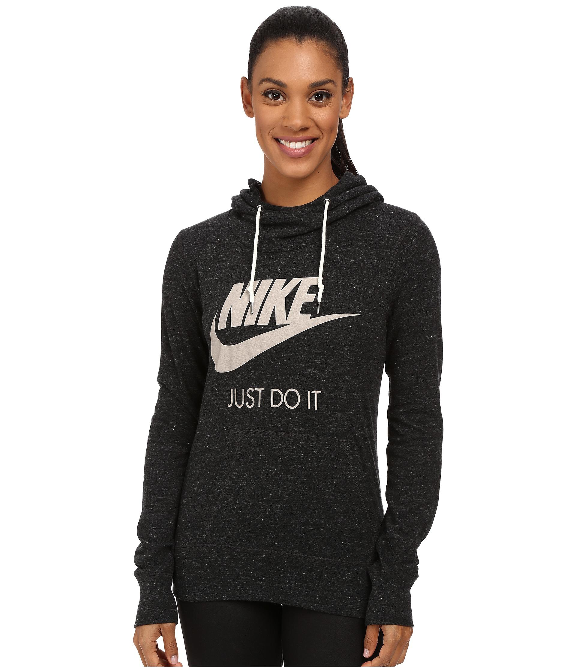 Nike Gym Vintage Hoodie in Black | Lyst