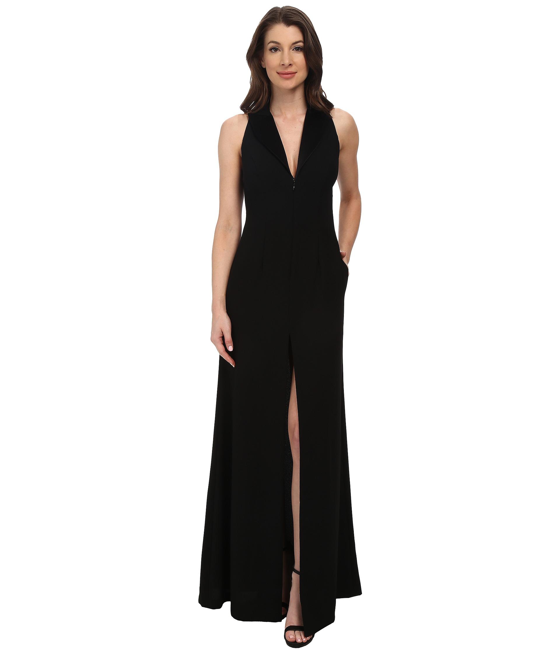 Lyst - Jill Jill Stuart Tuxedo Gown W/ Shorts in Black