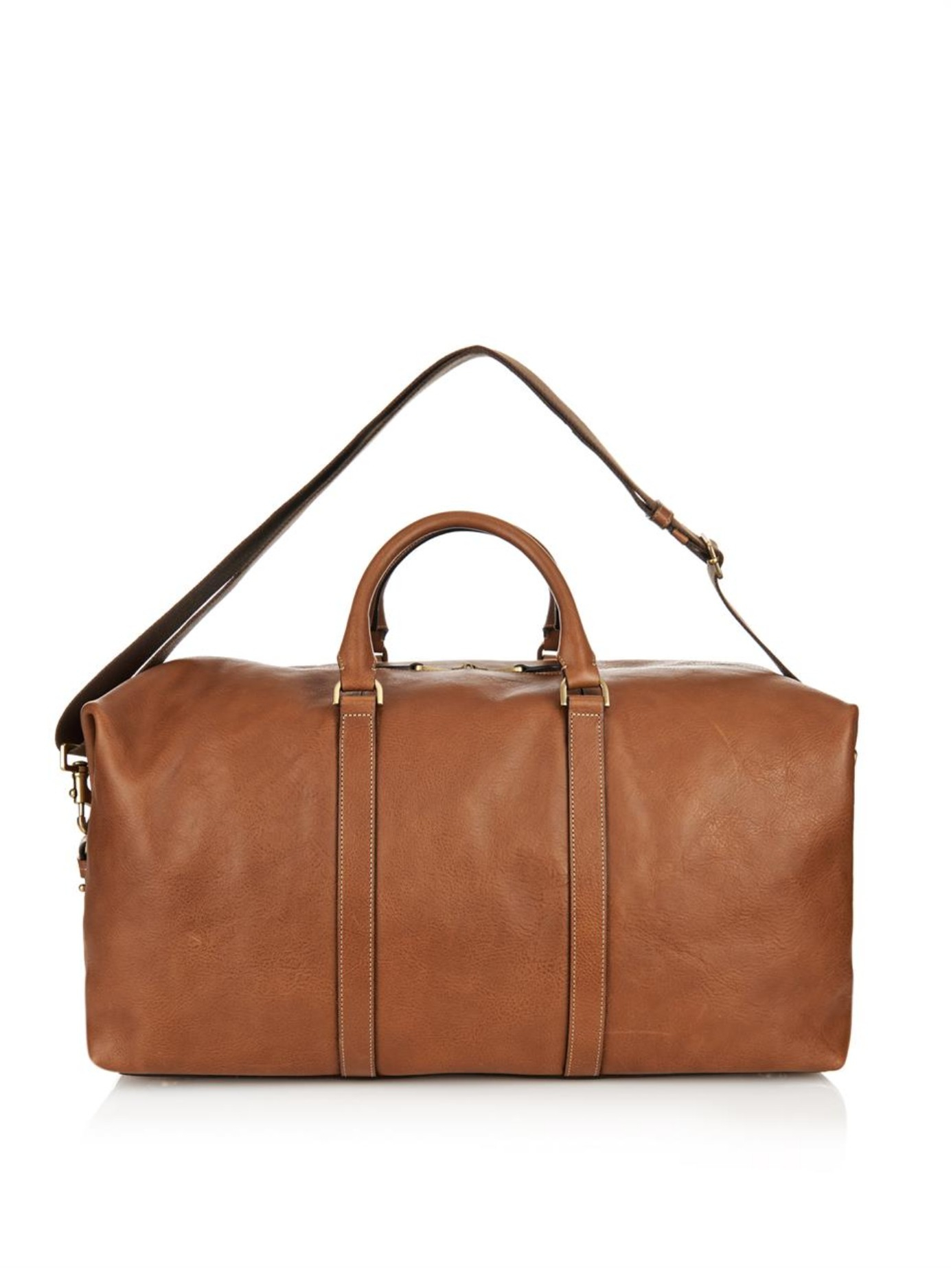 Mulberry Clipper Leather Weekend Bag in Brown for Men | Lyst