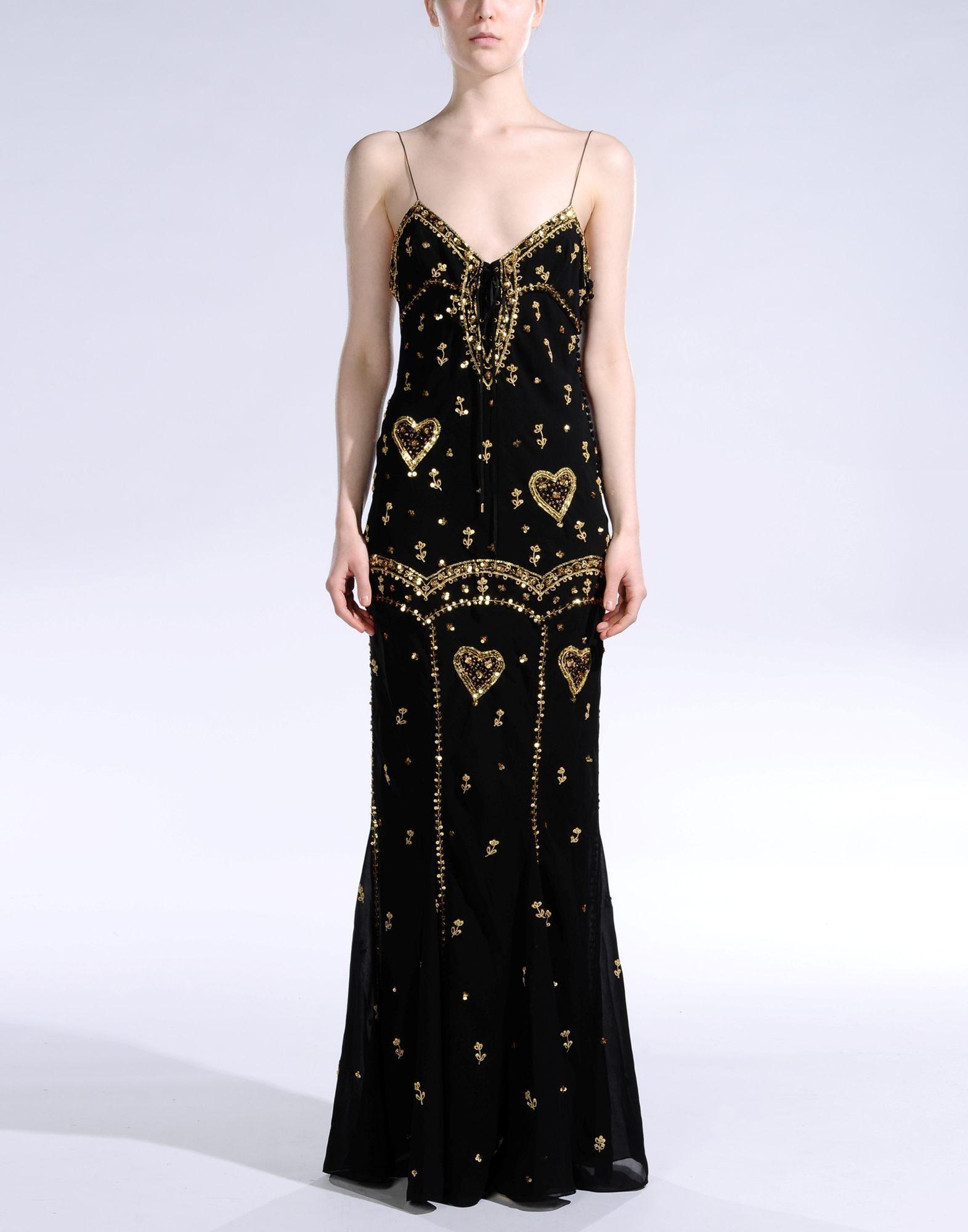 Dior Long Dress In Black Lyst