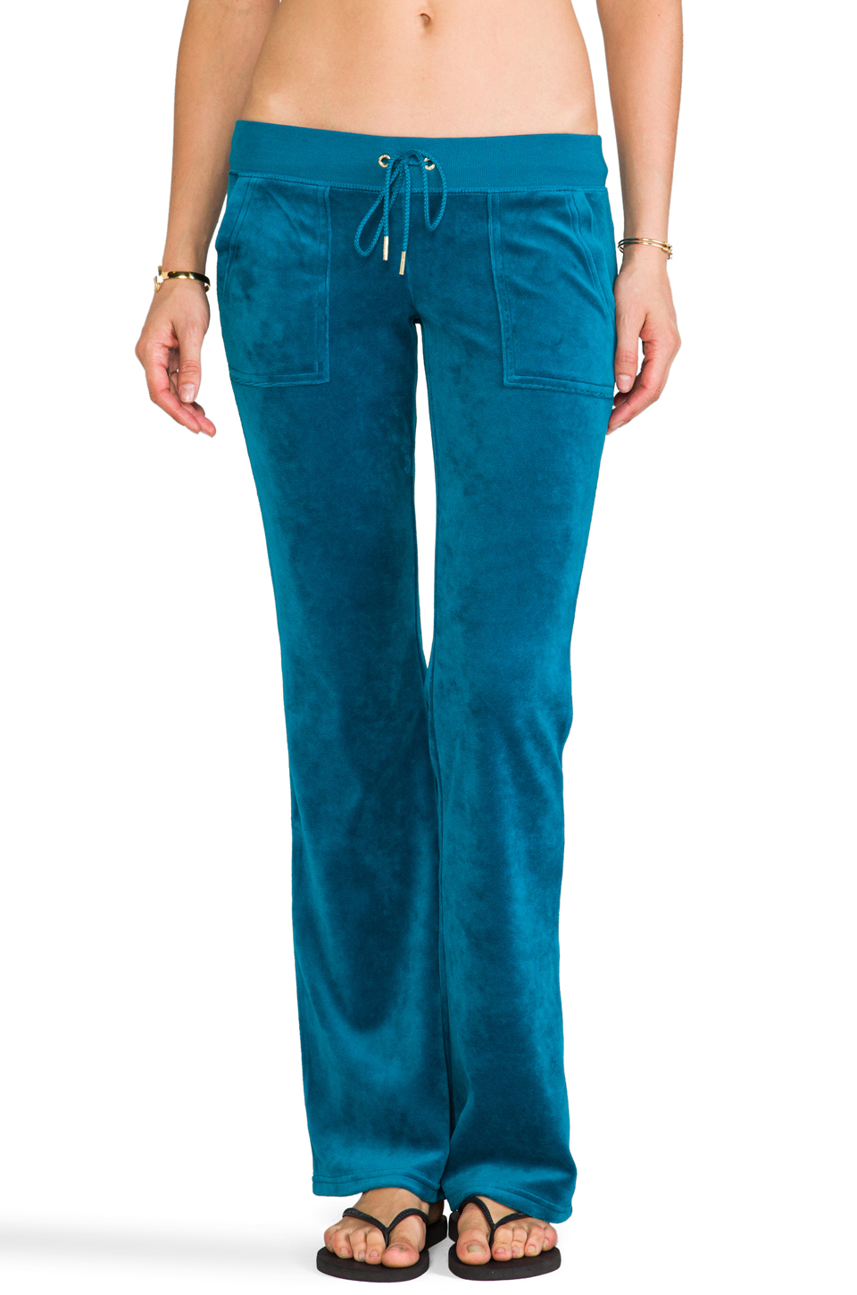 b57800a2 Juicy Couture J Bling Bootcut Pant in Teal in Blue - Lyst