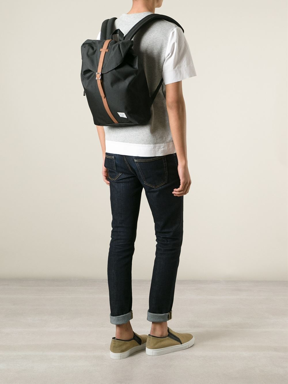 4f6daa27da9b Lyst - Herschel Supply Co.  Post  Backpack in Black for Men